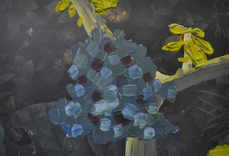 Imaginary Flowers on Leaves