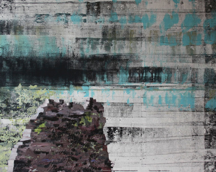 Rock on Mono print Landscape