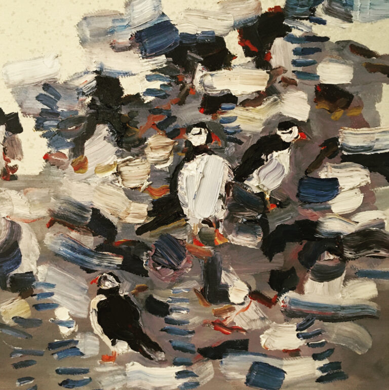 Camouflaged Puffins