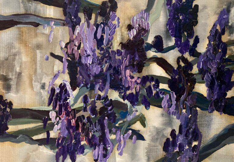 Purple flowers in the City